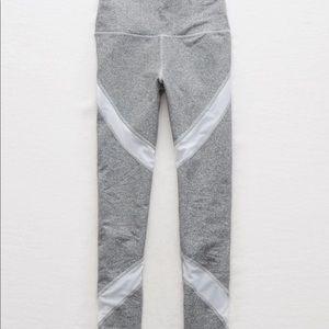Aerie / Grey Mesh Leggings